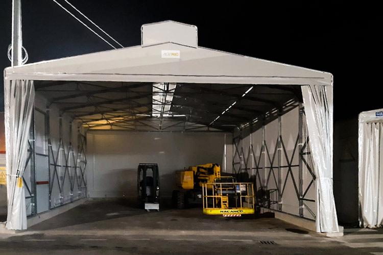 tunnel mobile in pvc Arezzo