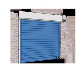 Giesse roll-up freezer door