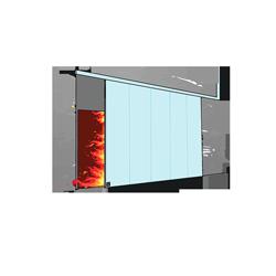 Sliding fire retardant doors