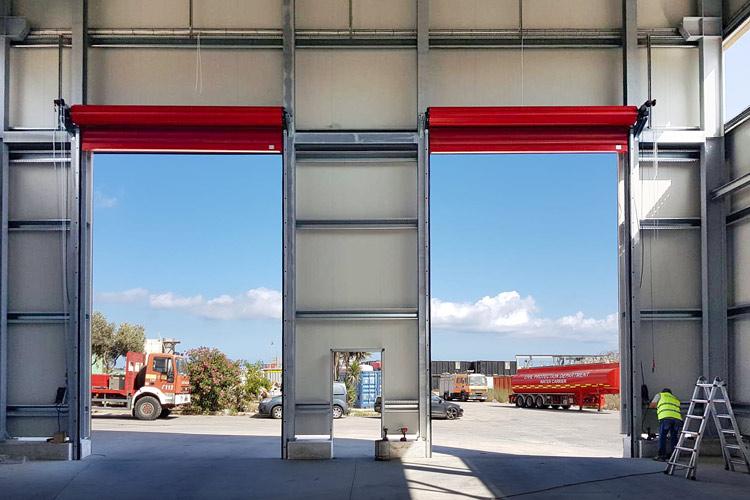 serrande avvolgibili vista interna capannone