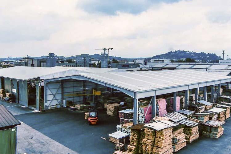 tettoie industriali in lamiera