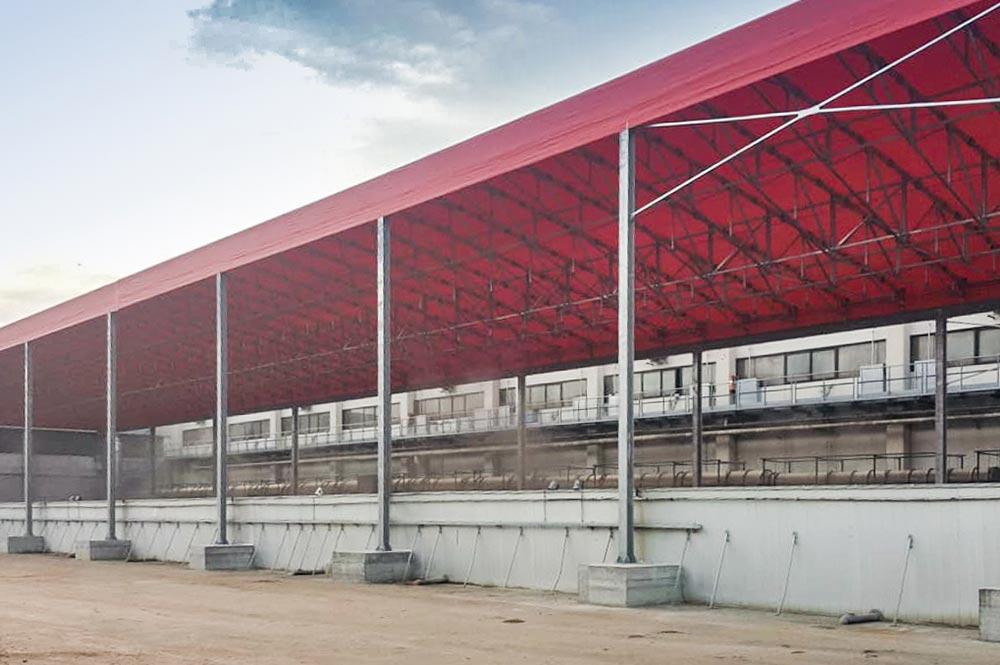 tettoia di copertura stoccaggio