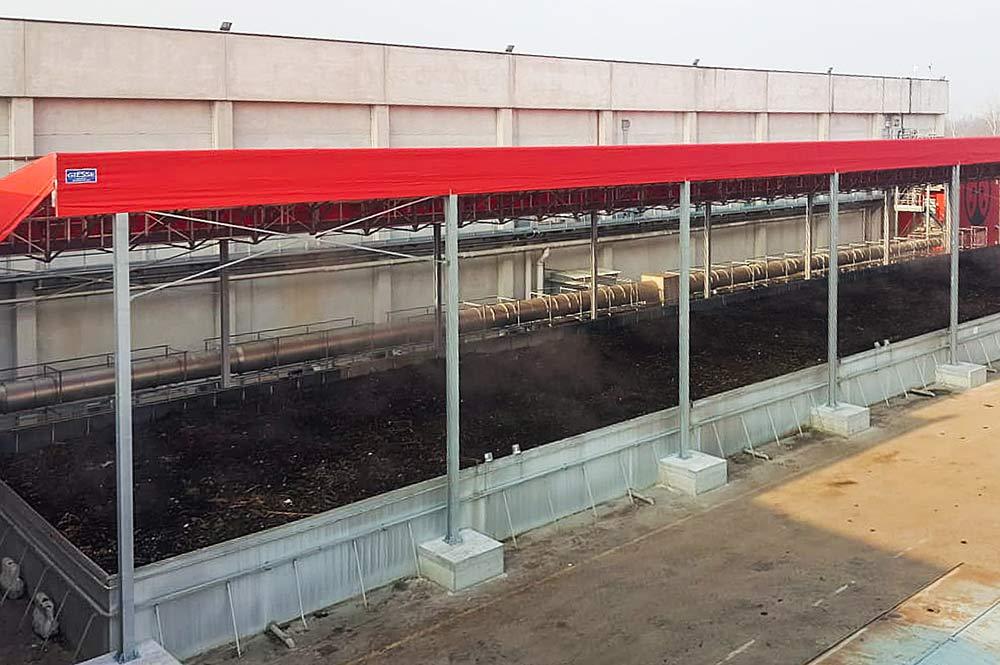 tettoia compostaggio