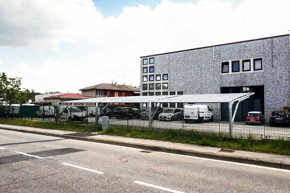 tettoie per parcheggi