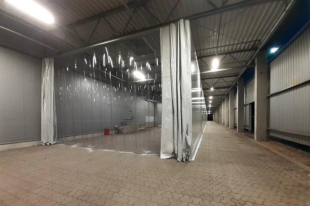 tende in plastica trasparente